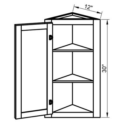 Wall End Corner Cabinet Single Door