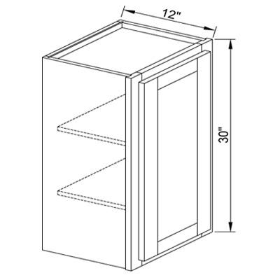 W1530 30 Single Door Wall Cabinet Brownstone Glaze Discount