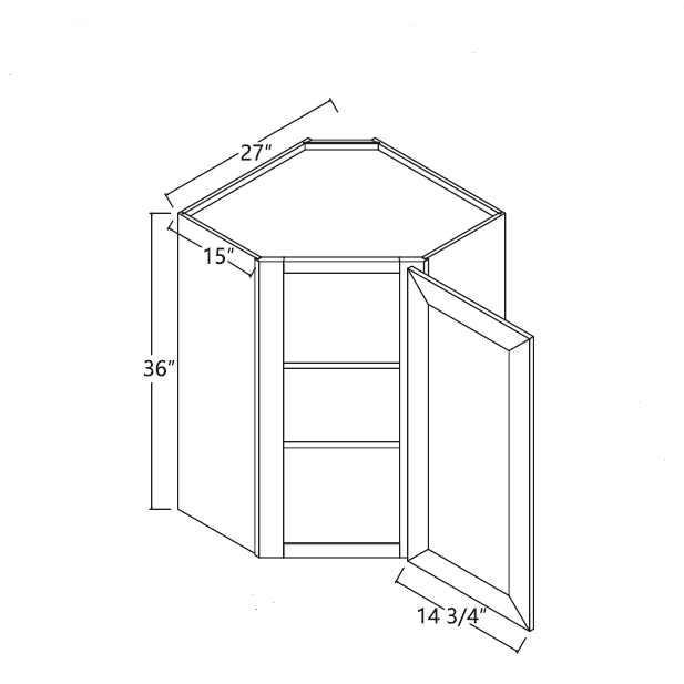 Diagonal Corner Cabinet 27 X 36 15